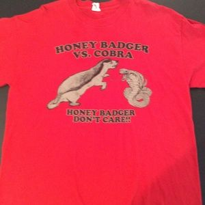 10 for $25 Mens Honey Badger Cobra TShirt Size XL
